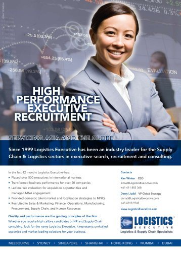 HigH Performance Executive Recruitment - Logistics Association of ...