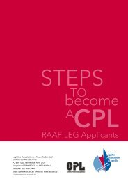 RAAF LEG: CPL Application Pack - Logistics Association of Australia