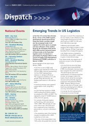 Dispatch - Logistics Association of Australia