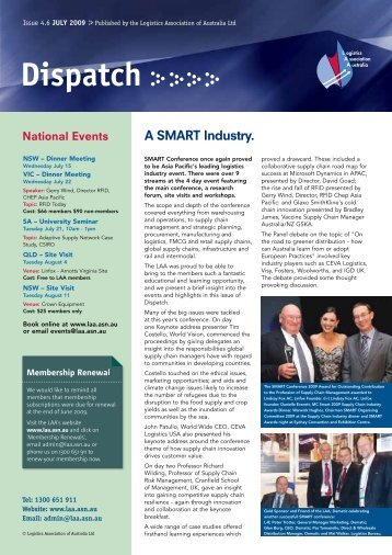 Issue 4.6 July 2009 - Logistics Association of Australia