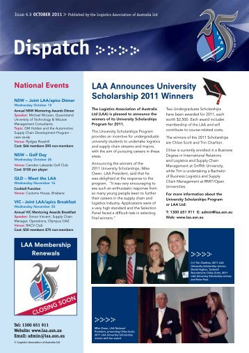 Issue 6.9 October 2011 - Logistics Association of Australia