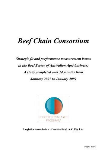 beef chain consortium team - Logistics Association of Australia