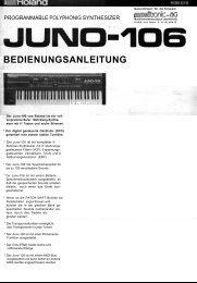 Anleitung Roland Juno 106 - Deep!sonic