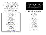 Faculty Recital Nov. 18, 2006 - Louisiana Academy of Performing Arts