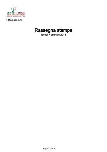 7 gennaio 2013 - Unione dei Comuni della Bassa Romagna