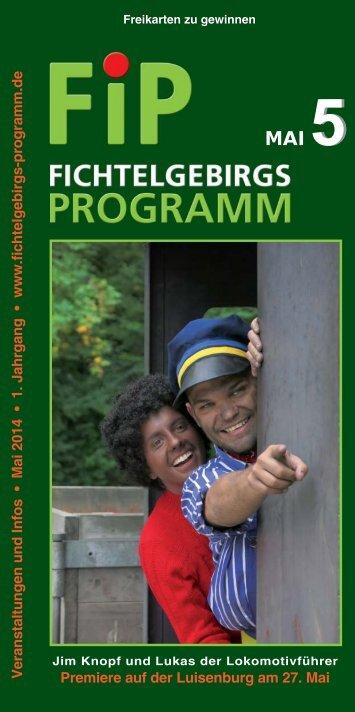 Fichtelgebirgs-Programm - Mai 2014