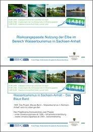 Risikoangepasste Nutzung der Elbe im Bereich ... - LABEL