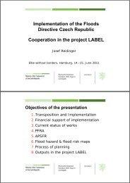 Implementation of the Floods Directive Czech Republic ... - LABEL