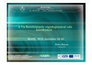A Víz Keretirányelv végrehajtásával való koordináció - LABEL