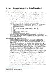 Shrnutí vyhodnocovací studie projektu Blaues Band - LABEL