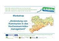 """Workshop """"Einbindung von Kommunen in das ... - LABEL"""