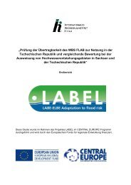 Prüfung der Übertragbarkeit des WBS FLAB zur Nutzung in ... - LABEL