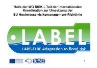 Rolle der WG RISK – Teil der internationalen Koordination ... - LABEL