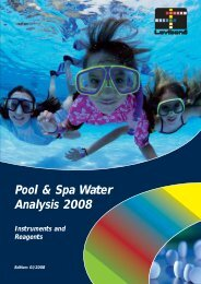 Pool & Spa Water Analysis 2008 Instruments and Reagents