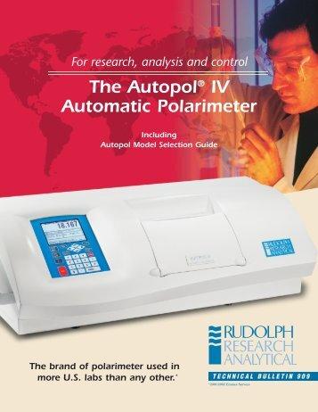 The Autopol® IV Automatic Polarimeter