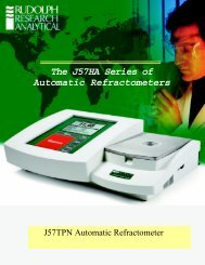 The J57HA Series of Automatic Refractometers