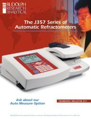 The J357 Series of Automatic Refractometers