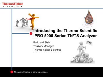 Introducing the Thermo Scientific iPRO 5000 Series TN/TS Analyzer