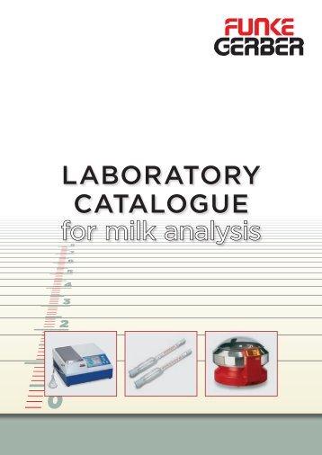 LABORATORY CATALOGUE for milk analysis - Labochema
