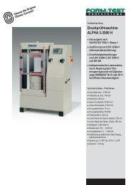 Druckprüfmaschine ALPHA 3-3000 H - Labochema