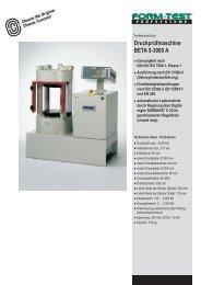Druckprüfmaschine BETA 5-3000 A - Labochema