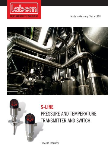 S-LINE PreSSure and TeMPeraTure TranSMiTTer and ... - LABOM