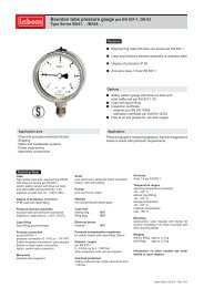 Bourdon tube pressure gauge per EN 837-1, DN 63 - LABOM