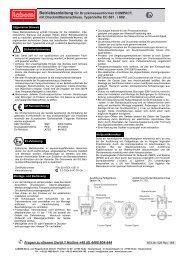 Betriebsanleitung für Druckmessumformer COMPACT, mit ... - LABOM