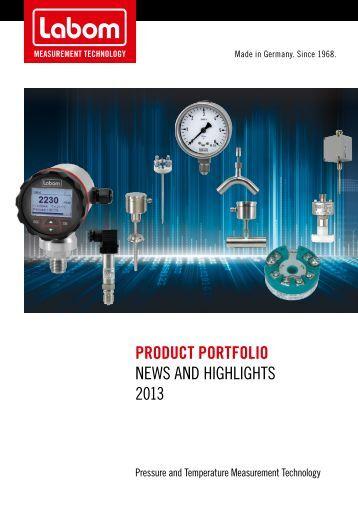 Product Portfolio News aNd highlights 2013 - LABOM
