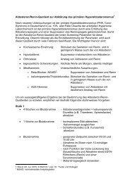 Aldosteron/Renin-Quotient zur Abklärung des primären ...
