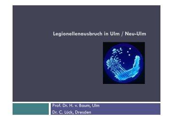 Legionellenausbruch in Ulm / Neu-Ulm - Labor Leipzig