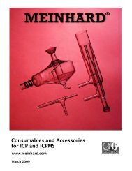 Consumables and Accessories for ICP and ICPMS
