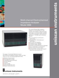 Multi-channel Electrochemical Impedance Analyser Model 3300