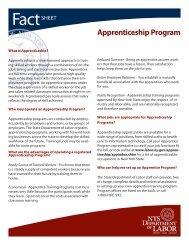 Apprenticeship Program - New York State Department of Labor