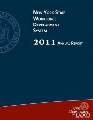 NEW YORK STATE WORKFORCE DEVELOPMENT SYSTEM