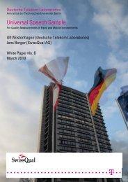 Working Report Sprachsample - Deutsche Telekom Laboratories