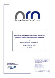 The Impact of Labor Market Entry Condition on Initial Job ...
