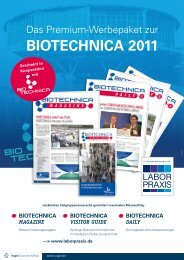 BIOTECHNICA 2011 - LaborPraxis - Vogel Business Media