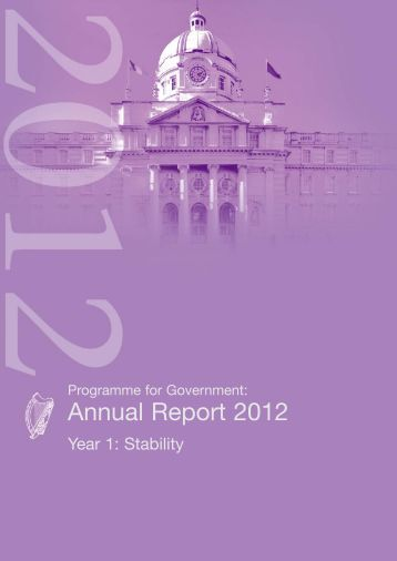 Programme For Government: Annual Report 2012 - The Labour Party