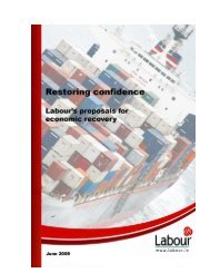 RESTORING CONFIDENCE Labour's Proposals ... - The Labour Party