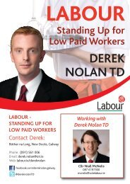 Standing Up for Low Paid Workers Derek Nolan TD - The Labour Party