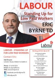 Standing Up for Low Paid Workers Eric Byrne TD - The Labour Party