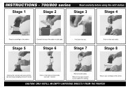 INSTRUCTIONS - 700/800 series Stage 1 Stage 2 Stage 3 Stage 4 ...