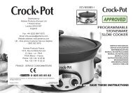 PROGRAMMABLE STONEWARE SLOW COOKER