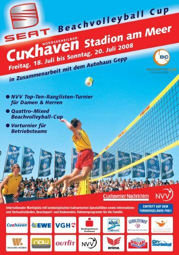 SEAT Beachvolleyball Cup Cuxhaven 2008 - BC Cuxhaven
