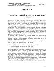 CAPITOLUL 1 - Facultatea de Construcţii Timişoara