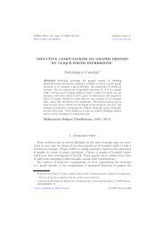 Inductive computations on graphs defined by clique-width ... - LaBRI