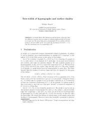 Tree-width of hypergraphs and surface duality - LaBRI