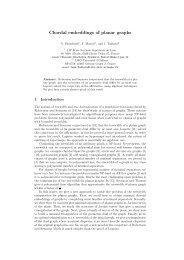 Chordal embeddings of planar graphs - LaBRI