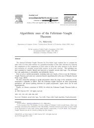 Algorithmic uses of the Feferman–Vaught Theorem - LaBRI